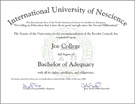 Bachelor of Adequacy Degree